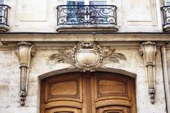 一个传统,历史大厦的入口看法  图库摄影