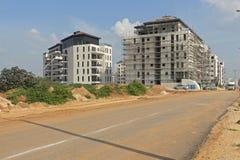 一个住宅区的建筑 免版税库存图片