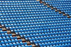 一个体育场的立场,有位子行的  免版税图库摄影