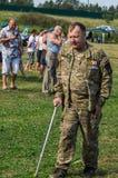 一个俄国军事假日-天的庆祝2016年8月2日的空降兵在村庄Kremenskaya卡卢加州regi 库存图片