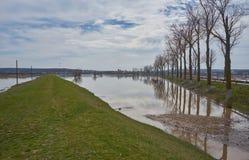 一个修道院在水灾地区 库存照片