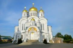 一个修道院的东正教在Diveevo,俄罗斯 免版税图库摄影