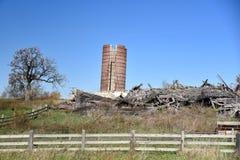 一个倒塌的谷仓 图库摄影