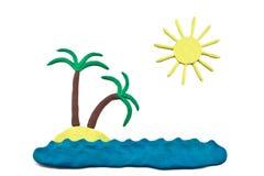 一个假期的彩色塑泥梦想 免版税库存图片