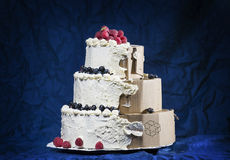一个假蛋糕 库存图片