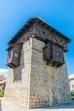 一个健壮的中世纪防御高塔 免版税库存图片