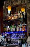 一个储存极多的酒吧 库存图片