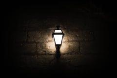 一个光亮灯笼 库存照片