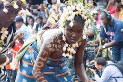 一个党的女孩在非洲 免版税图库摄影