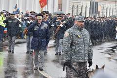 一个全国事件的军事和警察 免版税库存图片