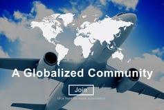 一个全球化的公共全世界连接网络概念 库存图片