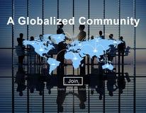 一个全球化的公共全世界连接网络概念 免版税图库摄影