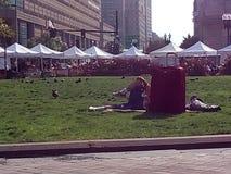 一个公园在波士顿 库存图片