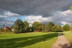 一个公园在罗斯基勒丹麦 库存照片