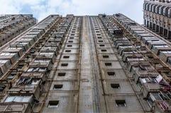 一个公寓的门面在香港 免版税库存图片