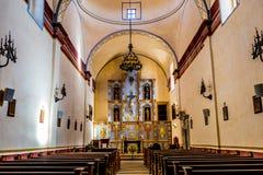 一个公开国家公园,圣何塞使命的美丽的更大的教堂的部分在得克萨斯 免版税库存图片