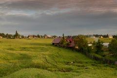 一个典型的俄国村庄 库存图片