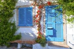 一个典型的地中海房子 图库摄影