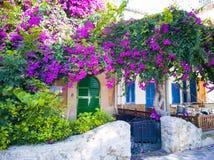 一个典型的地中海村庄 图库摄影