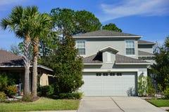 一个典型的房子在佛罗里达 库存图片