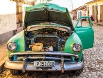 一个典型的看法在特立尼达在古巴 免版税库存图片
