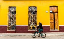 一个典型的看法在特立尼达在古巴 库存图片