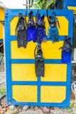 一个典型的看法在蓬塔uva在哥斯达黎加 免版税图库摄影