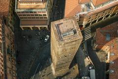 一个典型的老欧洲城市的看法从上面 免版税库存图片