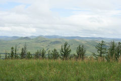 一个典型的风景在北蒙古 图库摄影
