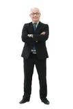 一个典雅的成熟的商业人的画象白色背景的 免版税图库摄影