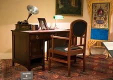 一个内阁的陈列区在匈牙利国家博物馆 库存照片