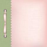 一个册页的桃红色盖子与照片 免版税库存照片