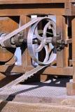 一个农业机器的滑轮 图库摄影