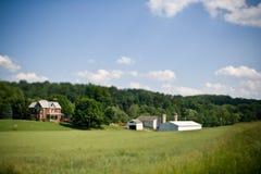 一个农场的老砖房子在宾夕法尼亚 免版税库存照片
