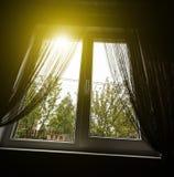 一个农村房子的窗口 免版税库存图片