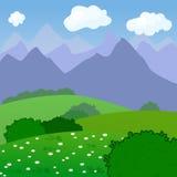 一个农村风景的传染媒介例证与 免版税库存图片