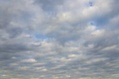 一个冬日的灰色天空 库存照片
