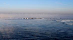 一个冷淡的早晨在塔林 库存照片