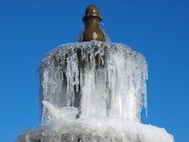 一个冻喷泉 库存图片