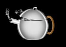 一个减速火箭的样式茶壶的例证 免版税库存图片