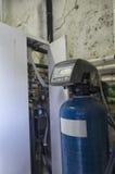 一个凝聚的锅炉的看法 免版税库存照片