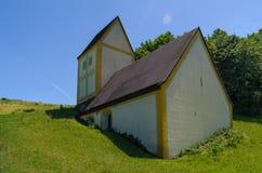 一个凹下去的教会 库存图片