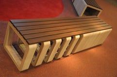 一个创造性的设计长木凳 库存图片