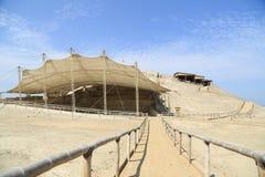 一个前印加人站点的废墟秘鲁的北部的 库存照片