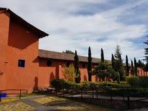一个前大牧场的外部门面在墨西哥 免版税库存图片