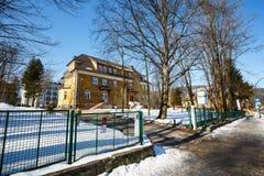 一个前宾馆Zychoniowka 库存照片