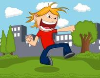 一个动画片人猛击动画片 免版税库存图片