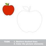 一个动画片红色苹果 库存照片