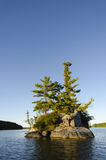 一个北湖的海岛 库存照片