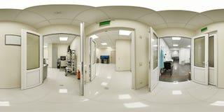 360一个医学机关的全景 库存照片